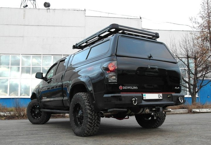 вид сзади, Toyota Tundra TRD Rock Warrior DEVOLRO Diablo, двигатель 3UR-FE i-Force TRD