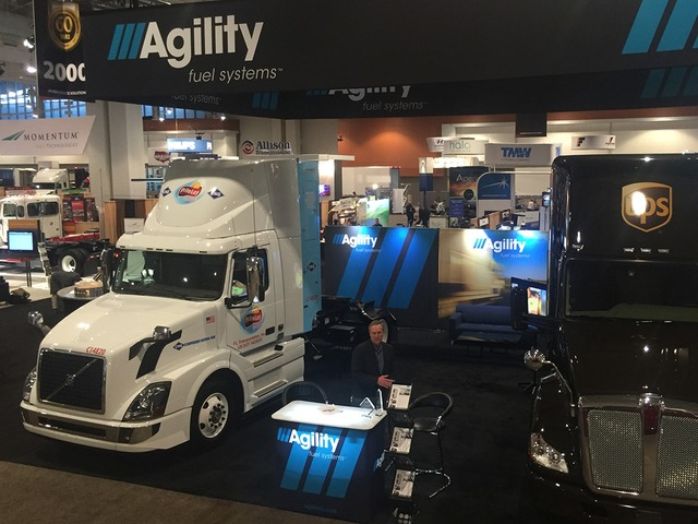 Agility's display at ATA's TMC exhibition this week in Nashville.