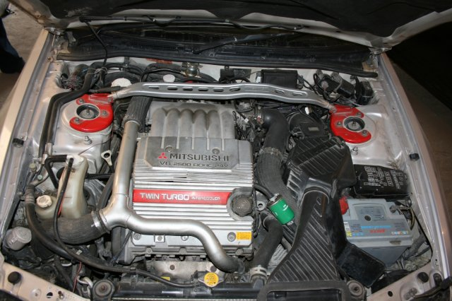 Подкапотная компоновка Alpha M Mitsubishi Galant, VR-4 2.5 V6 Twin Turbo AWD