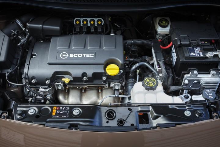 Opel Adam LPG, подкапотное пространство