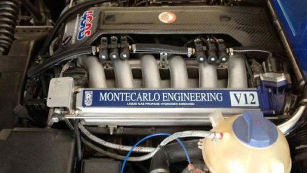 Montecarlo Automobile Rascasse LPG, engine V12 5.4 litre