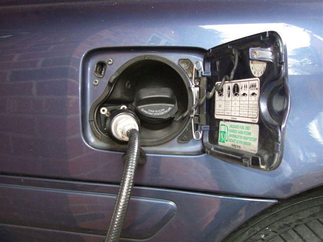 автомобиль, заправляющийся природным газом