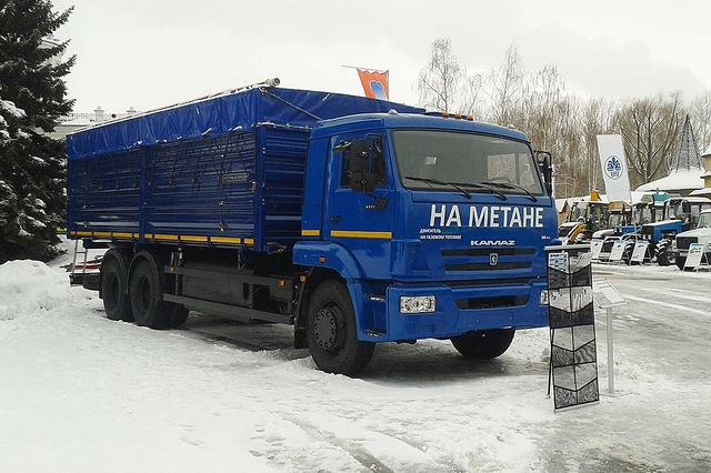 Новый зерновоз на природном газе, 68902С, КАМАЗ