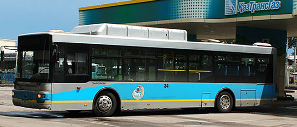 Автобус на природном газе, Казахстан
