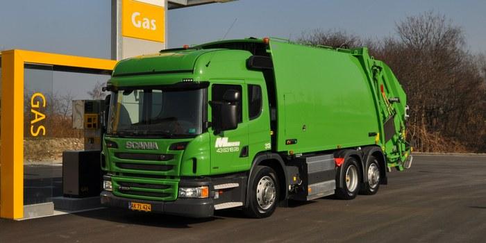 Газовый мусоровоз Scania, стандарт Евро 6, Копенгаген