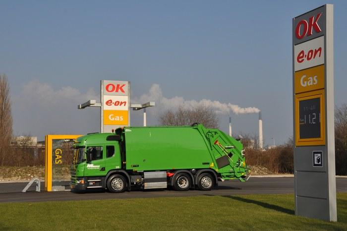мусоровоз Scania  Евро 6 на природном газе
