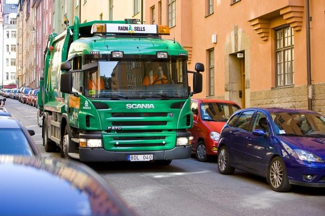 scania p270, мусоровоз на метане, CNG