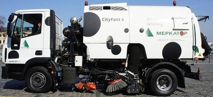 городской газомоторный пылесос на метане cityfant 6 на базе Iveco Eurocargo ML120E20/P CNG