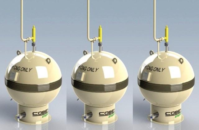 сферические метановые баллоны Cobey Energy
