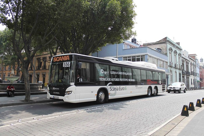 Scania запускает метановый автобус Euro 6