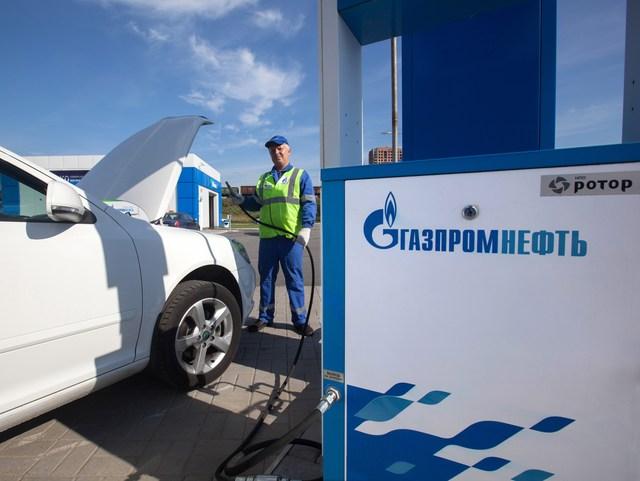 МАЗС на Пулковском Шоссе, метановая заправка Газпром, Санкт-Петербург