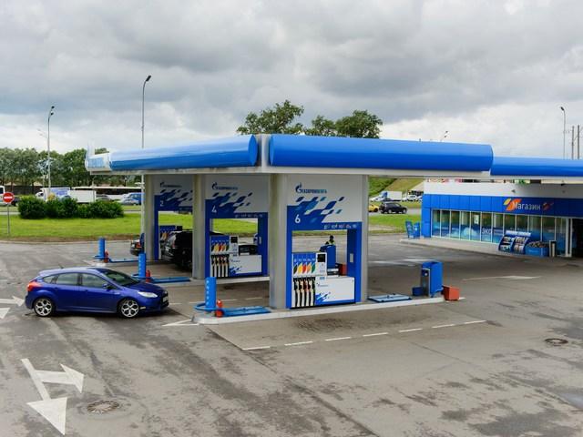 Газовая метановая заправка АЗС Газпром, Пулковское шоссе, Санкт-Петербург