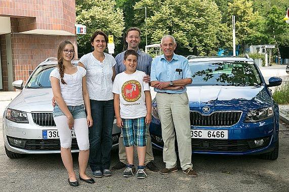 Две SKODA Octavia G-TEC CNG в автопробеге из Берлина в Джелосо