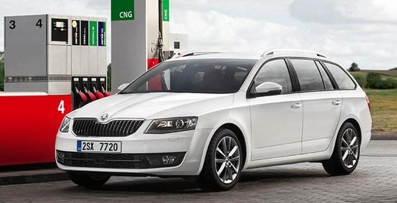 газовая SKODA Octavia G-TEC CNG, битопливный автомобиль на природном газе