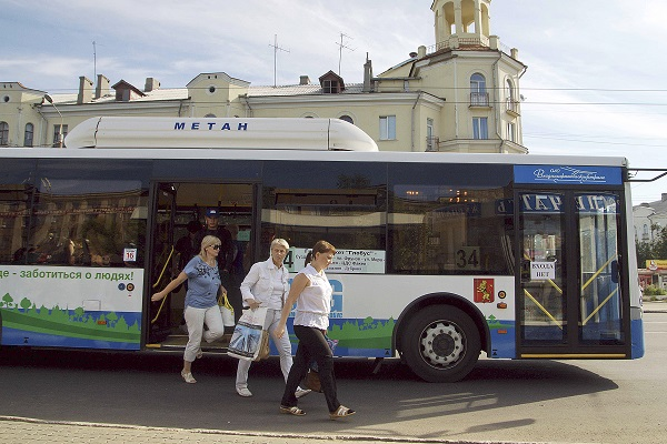 газовый автобус на метане, Владимир