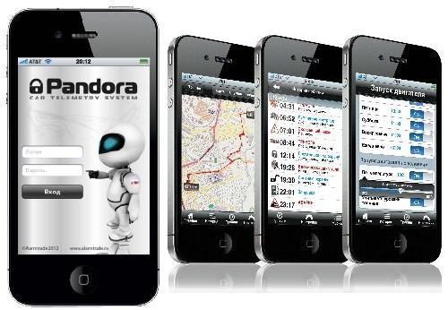 приложения под iOs, Android, автосигнализация Pandora DXL 5000