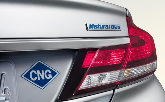 вид сзади, Civic Natural Gas 2015