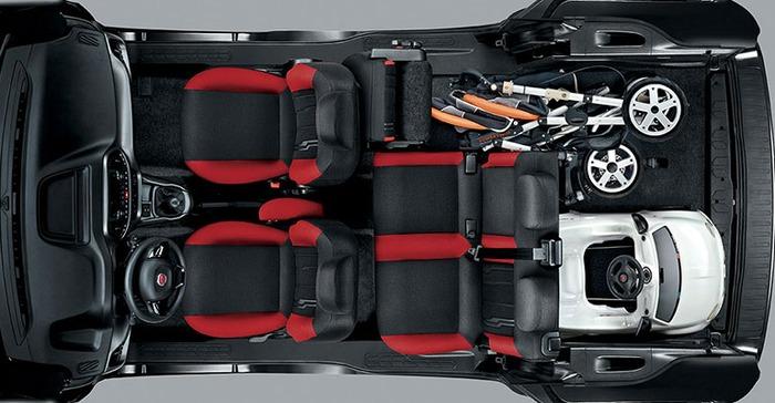 салон, вид сверху, Fiat Doblo 2015