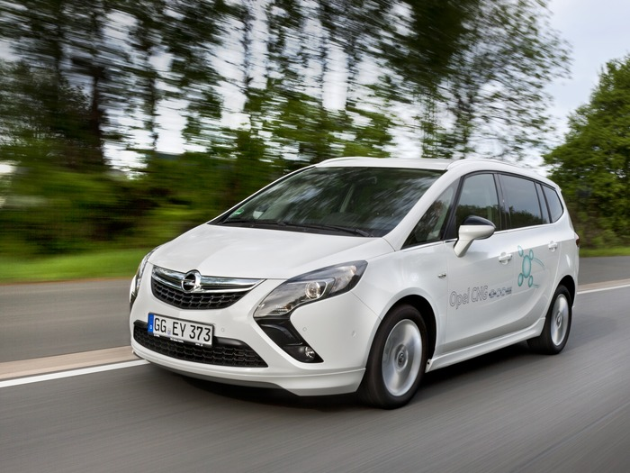 Opel Zafira Tourer CNG, Опель Зафира на природном газе