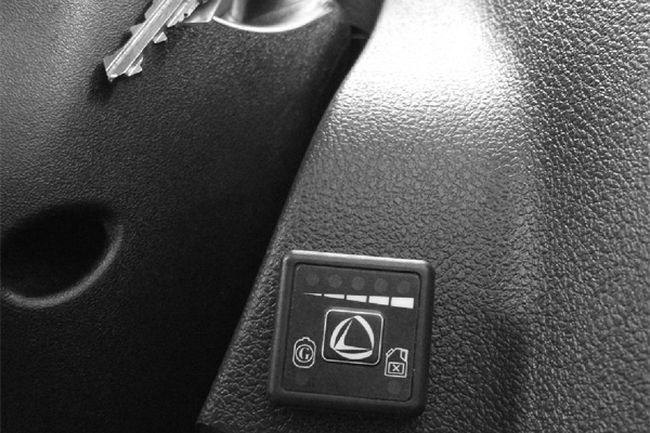 кнопка Landi Renzo переключения и индикации топлива и уровня газа