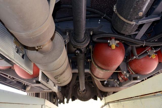 метановые баллоны, ПАЗ-320412 CNG
