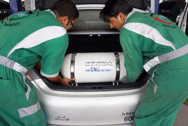 перевод автомобилей на метан, ОАЭ