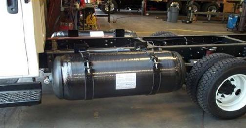 газовые CNG баллоны Quantum на грузовиках