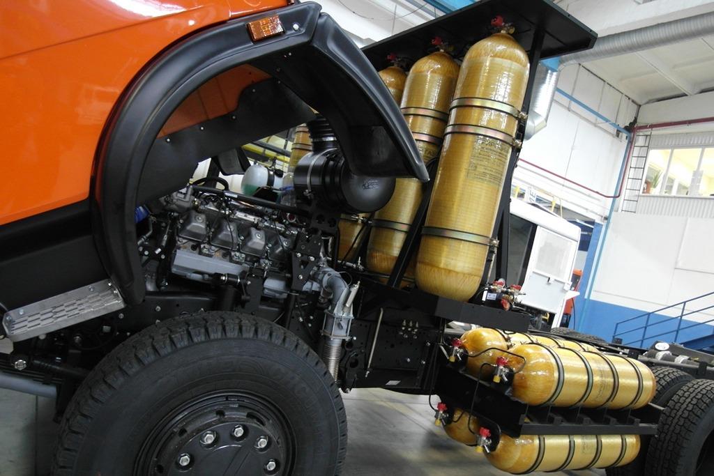 перевод дизельного двигателя КАМАЗ на метан