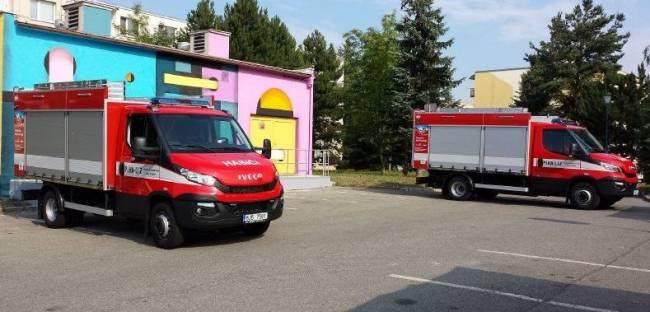Пожарные машина на шасси Iveco на природном газе, Высочина, Чехия