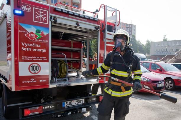 Пожарная машина на метане