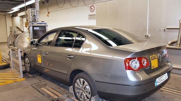 один из этапов Экотеста ADAC, VW Passat CNG
