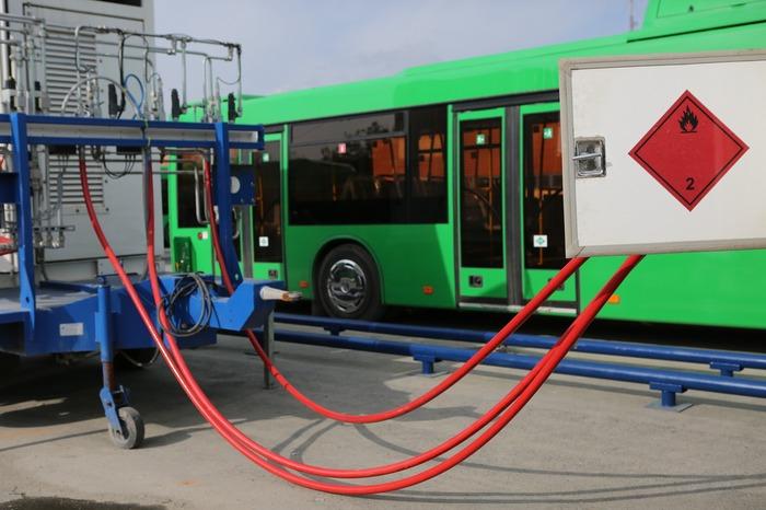 передвижной газозаправщик для заправки автобусов природным газом, Екатеринбург