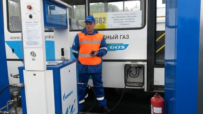 заправка автобусов ПАЗ метаном