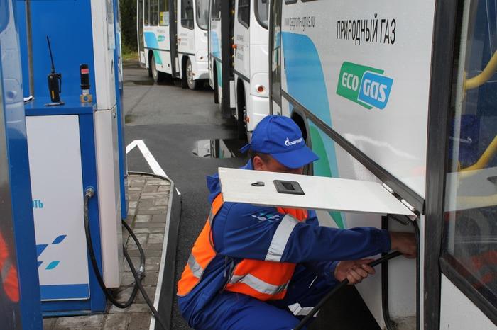 АГНКС, заправка автобусов природным газом