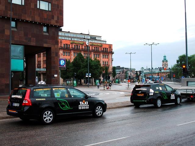 такси Volvo в Швеции