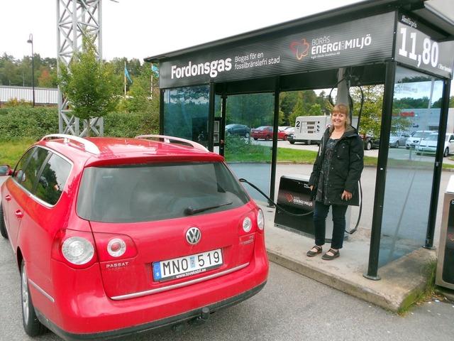 заправка биогазом в Швеции