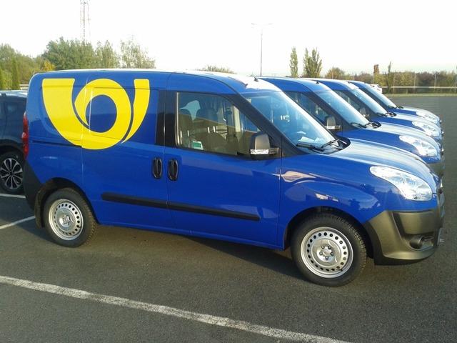 Fiat Doblo CNG, метановые автомобили на службе Чешской Почты