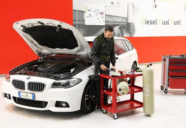 Перевод BMW на газодизель с использованием системы d-gid
