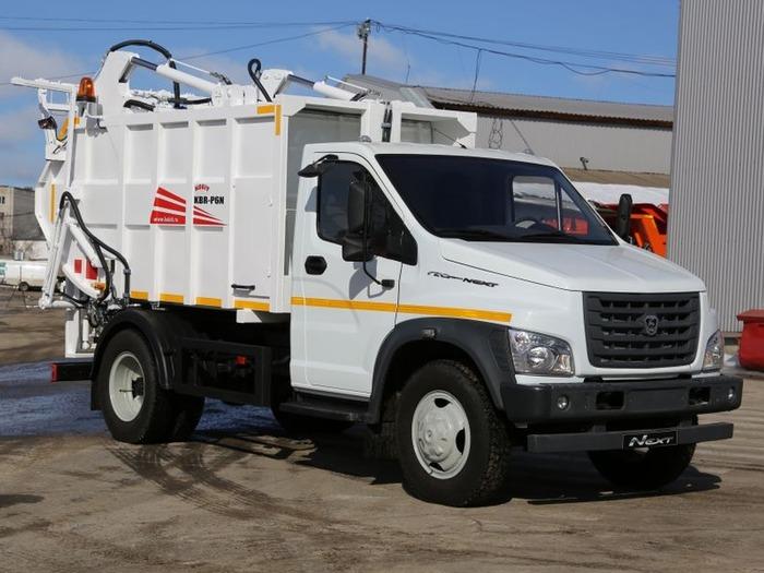 метановый мусоровоз на базе ГАЗон NEXT