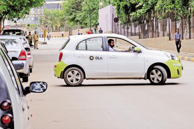 Такси Ola Cabs на метане