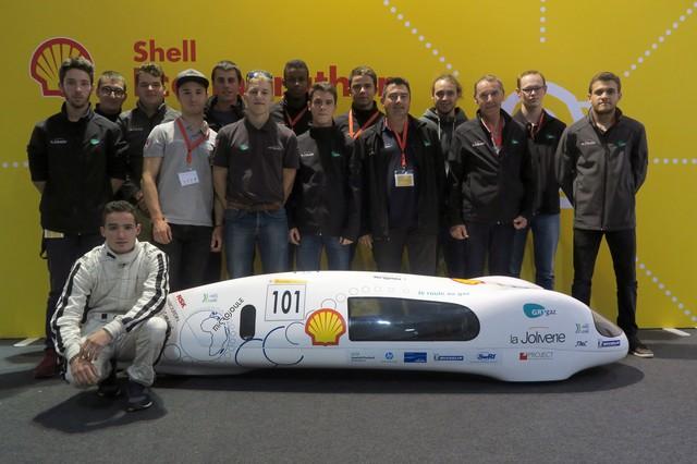 команда La Joliverie вместе MicroJoule на Эко-марафоне Shell 2016 в Лондоне