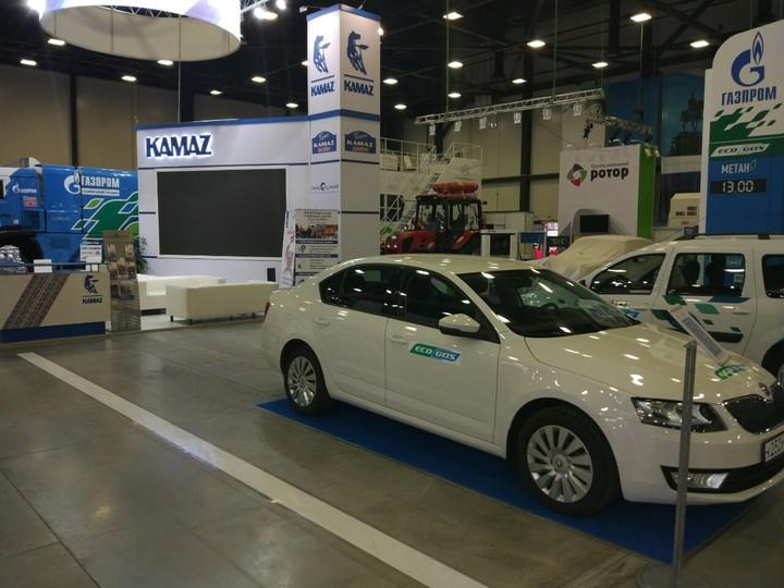 Знаменитый газовый КАМАЗ и Шкода CNG на VI Международном Газовом Форуме, Санкт-Петербург