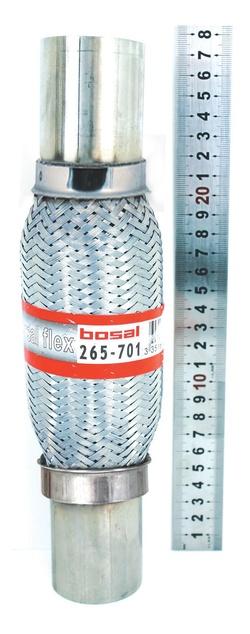 Гофры Bosal с патрубками, с внутренней защитой в виде оплетки