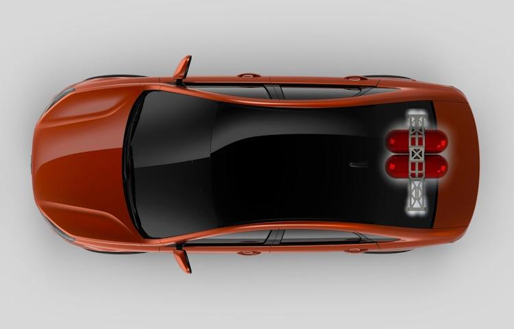 вид сверху, Lada Vesta CNG