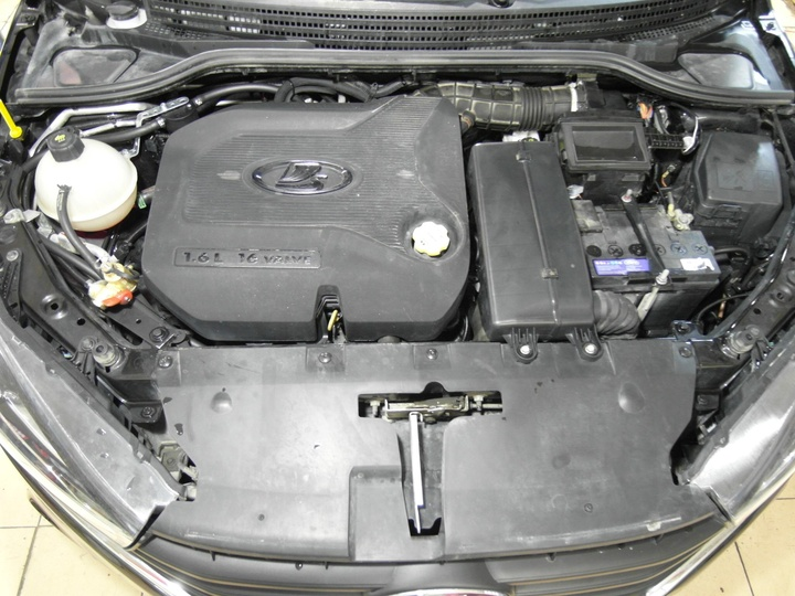 подкапотная компоновка, Lada Vesta CNG