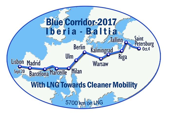 маршрут автопробега Голубой коридор 2017
