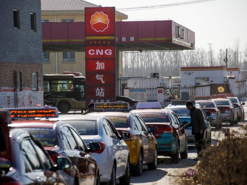газовые автомобили в Китае