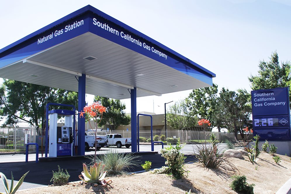 метановая заправка Southern California Gas