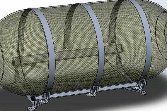Крепление газовых баллонов диаметром 300, 360, 400 мм