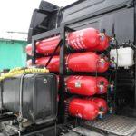 Установка метановых баллонов на Scania G410 CNG 2019